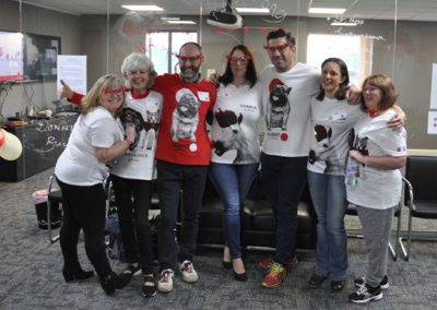 Red Nose Day - Midland Comms staff group photo